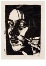 Dick Ket (1902-1940)  -  Zelfportret met hand en penseel, 1930 - Postcard -  A11768-1
