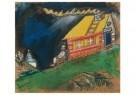 Marc Chagall (1887-1985)  -  Devant la maison au toit jaune, 1911-1912 - Postcard -  A11786-1