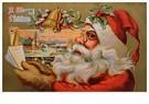 A.N.B.  -  Kerstman bekijkt lijst met kindernamen - Postcard -  A118367-1