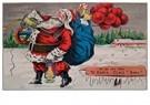 A.N.B.  -  Kerstman loopt met cadeaus door de sneeuw - Postcard -  A118500-1