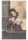 A.N.B.  -  Jong meisje met kersttakken in een sneeuwlandschap - Postcard -  A118518-1