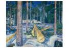 Edvard Munch (1863-1944)  -  De gele boomstam, 1912 - Postcard -  A11901-1