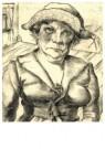 Wilhelm Lachnit (1899-1962)  -  Kamerverhuurster, ca.1924 - Postcard -  A11909-1