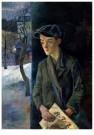 Conrad Felixmuller (1897-1977) -  Krantenjongen, 1928 - Postcard -  A11912-1