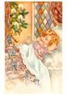 A.N.B.  -  Kerstelf loopt op het bed van een slapend kind - Postcard -  A119153-1