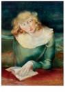 Rudolf Schmidt (1894-1992)  -  Lezend meisje, ca. 1930 - Postcard -  A11915-1