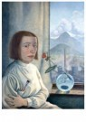 Erika Streit (1910-2011)  -  Zelfportret met bolvaas, 1923 - Postcard -  A11920-1
