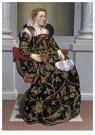 Giovan Battista Moroni(1522-79 -  Portret van Isotta Brembati, ca 1552-1553 - Postcard -  A11969-1