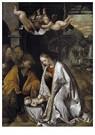 Romanino (ca.1485 - ca.1540/41 -  Adoratie van het Christuskind, ca.1545 - Postcard -  A11990-1