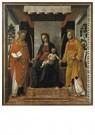 Vincenzo Foppa (c.1427-c.1515) -  Tronende Maria met de heiligen Faustinu en Jovita, ca.1501- - Postcard -  A11996-1