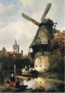 Antonie Waldorp (1803-1866)  -  Molen met gezicht op Delft, 1836 - Postcard -  A12025-1
