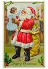 A.N.B.  -  Kerstman houdt meisje in zijn handen vast - Postcard -  A120286-1
