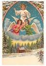 A.N.B.  -  Engelen boven een winterlandschap met dennebomen - Postcard -  A120364-1