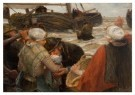 B. J. Blommers (1845-1914)  -  Het afscheid - Postcard -  A12104-1