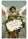 A.N.B.  -  Kerstengel brengt een kerstgroet - Postcard -  A122440-1