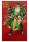 A.N.B.  -  Kerstman met een boek en cadeaus in zijn handen - Postcard -  A122569-1