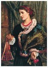 William Holman Hunt (1827-1910 -  The Birthday (The Artist's Wife, Edith), 1868 - Postcard -  A123501-1