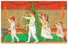 A.N.B.  -  Kinderen lopen met kaarsen bij de kerstboom - Postcard -  A123734-1