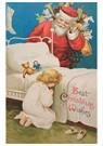 A.N.B.  -  Kerstman komt kinderkamer binnen met cadeaus - Postcard -  A123853-1