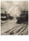Alfred Stieglitz(1864-1946)  -  Snapshot In The New York Central Yards - Postcard -  A12453-1