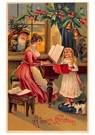 A.N.B.  -  Kerstman kijkt hoe moeder en kind muziek maken - Postcard -  A124971-1