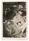 """Anders Zorn (1860-1920)  -  """"Lektyr"""" (Mr. Och Mrs. Ch. Deering) - Postcard -  A12523-1"""
