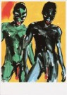 Luciano Castelli (1951)  -  Castelli/ Yellow men/ Shaf - Postcard -  A1538-1