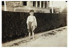 Lewis Hine(1874-1940)  -  Six Year Old Newsboy. Raymond Miller. Many Of These Here Ran - Postcard -  A16718-1