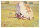 Maynard Dixon(1875-1946)  -  Apache Shelter, White Mountain Reservation, Arizona - Postcard -  A17221-1