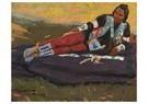 Maynard Dixon(1875-1946)  -  Flathead Brave - Postcard -  A17231-1