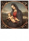 Raphaël Sanzio (1483-1520)  -  Madonna With The Book (Connestabile Madonna) - Postcard -  A19965-1