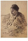Ilya Repin (1844-1930)  -  Portrait Of T.S. Repina, Mother Of The Artist,1879 - Postcard -  A21005-1