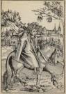Lucas Cranach (1472-1553)  -  Een Saksische prins te paard, A Saxon Prince on Ho - Postcard -  A2187-1