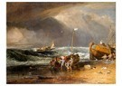 William Turner(1775-1851)  -  Fishmarket On The Beach - Postcard -  A22537-1
