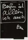 Ben Vautier (1935)  -  Ben Vautier/ allein/BerKul/zw - Postcard -  A2334-1