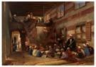 Konstantin Makovsky (1839-1915 -  School in Cairo - Postcard -  A25996-1