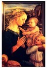 Fra filippo Lippi (1406-1469)  -  Virgin with Children, - Postcard -  A27960-1