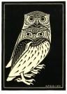 Julie de Graag (1877-1924)  -  Twee uilen, 1921 - Postcard -  A2990-1