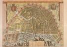 Anoniem,  -  Kaart van Amsterdam, 1689 - Postcard -  A3661-1