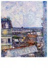 Vincent van Gogh (1853-1890)  -  View of Paris from Vincents Room in the Rue Lepic, 1887 - Postcard -  A36992-1