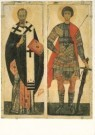 Anoniem,  -  St. Nicholas and St. George, XIV century, Moscow - Postcard -  A3838-1