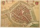 Joan Blaeu (1598-1673)  -  Plattegrond van Gouda - Postcard -  A3893-1