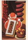 Auguste Herbin (1882-1960)  -  Stilleven met vruchten en gebak, 1926 - Postcard -  A3919-1