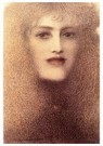 Fernand Khnopff (1858-1921)  -  The Red Lips, 1897 - Postcard -  A41576-1