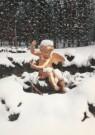-  Putto in de sneeuw, koninginnetuin - Postcard -  A4299-1