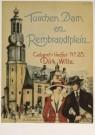 Martin Paerl  -  Tusschen Dam en Rembrandtplein, omslag bladmuziek - Postcard -  A4548-1