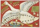 Daan Hoeksema (1879-1935)  -  Ganzenbord, ca. 1910 - Postcard -  A4607-1