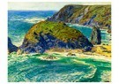 William Holman Hunt (1827-1910 -  Asparagus Island, Kynance, Cornwall, 1862 - Postcard -  A48367-1