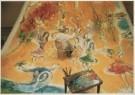 Marc Chagall (1887-1985)  -  Marc Chagall (1887-1985) temidden van de danseress - Postcard -  A4939-1