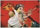Marc Chagall (1887-1985)  -  Marc Chagall (1887-1985) werkt aan de schildering - Postcard -  A4942-1